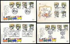 1978 IYOC YEAR of CHILD FDCs 4 DIFFERENT SPECIALS ALICE CARROLL WESTMINSTER GOSH