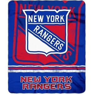 "Licensed Hockey New York Rangers Fleece Throw Blanket 50"" x 60"""