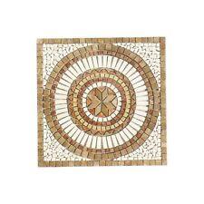 Rosoni rosone mosaico in marmo su rete per interni esterni 66x66 SAHARA NOCE