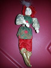 "Christmas large 9"" great prince doll ornament vintage"