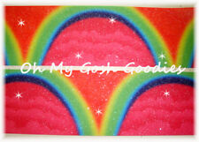 """3"""" GLITTER * ARCH * RAINBOW OMBRE BLING GROSGRAIN RIBBON TIC TOC CHEER FOR BOW"""