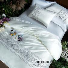Cotton Imitate Silk Bedding Set Luxury Set Bedsheets Embroidery Duvet Cover Set