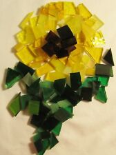 Hand Cut SUNFLOWER MIX Stained Glass Mosaic Scrap Pack, 100 PIECES