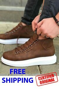 STM By Chekich Sneakers Brown High Sole Men Women Unisex Streetstyle Daily Shoes