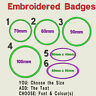 Circular or Oval Embroidered Felt Personalised Badge Patch Text Name Iron Sew On