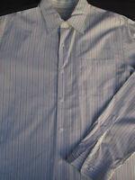 Banana Republic Mens Button Front Long Sleeve Cotton Nylon Stripe Shirt XL
