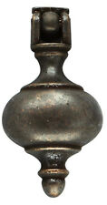 FURNITURE Hardware Drawer Drop Pull Antique Bronze Pendant Solid Round