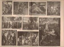 Pittura da tavola/Italia/Michelangelo/Carracci/veronese, Org-legno chiave 1902