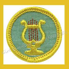 Cadette Girl Scout NEW Badge MUSIC MAKER Musician Harp Lyre Patch Multi=1 Ship