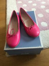 Shoes Jacadi France Girl Hot Pink Leather Ballet Pumps 35 2.5 New Box