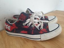 Converse All Stars Blue And Red Palm Tree Size 5.5