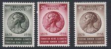 BELGIUM : 1956  Birthday of Queen Elizabeth set SG 1579-81 MNH