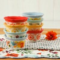 The Pioneer Woman Flea Market 4-Inch Floral Burst Ramekins Bowls Set of 8