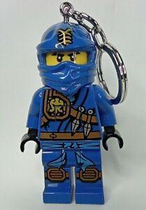 FIGURINE porte clés LED Lego ninja Jay lampe fonctionne 8 cm