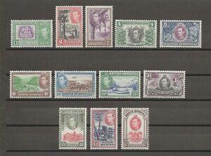 BRITISH HONDURAS 1938-47 SG 150/61 MINT Cat £225