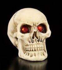 Totenkopf mit roten Augen - 2er Set - Deko Figur klein Schädel Gothic