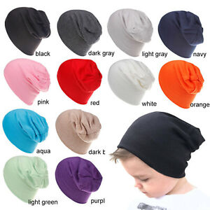 Baby Hip Hop Hat Boys Girls Knitted Cap Casual Winter Warm Kids Solid Beanie Hat