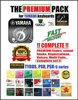 YAMAHA PSR S975 970 S775 770, TYROS 2,3,4,5, GENOS EXPANSION PACKS + MIDI  pack