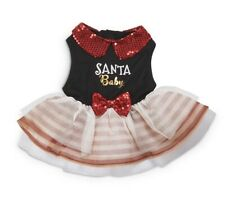 Holiday Tails Santa Baby Black & Red Dog Christmas Dress NWT