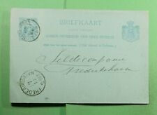 Dr Who 1892 Netherlands Harlingen Postal Card To Germany f71043