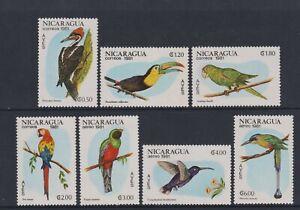 Nicaragua - 1981, Oiseaux Ensemble - MNH - Sg 2304/10