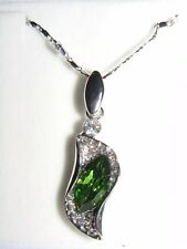 Green Crystal Pendant with Necklace