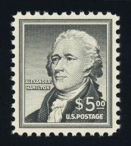 Scott #1053, $5.00 Hamilton, Superb-OG-NH, 2020 PSE (grade 98-nh), 2021 SMQ $200