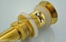 Gold clic clac pop up lavabo waste grand champignon push clicker fendue queue