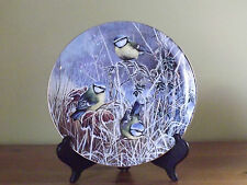Coalport Frosty Mornings Limited Edition Plate ~ Winter Bluetit (L56,98)