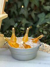 Miniature Dollhouse FAIRY GARDEN Accessories ~ Beer Bottles in Ice Tub Bucket