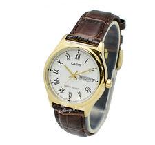 -Casio MTPV006GL-7B Men's Strap Fashion Watch Brand New & 100% Authentic
