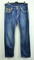 TRUE RELIGION Rocco Jeans Men's W36 L32 Straight Made in USA Pants Blue Regular