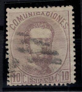 P133251/ SPAIN – KING AMADEO – EDIFIL # 120 USED CERTIFICATE – CV 435 $