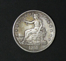 1875-S Trade Dollar Scarce Very Nice High Grade **XF Cleaned**
