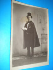 Old  postcard man cape gloves top hat and cane c1910s