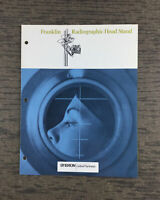 Vintage SYBRON Medical Franklin Radiographic Head Stand Advertisement Catalog