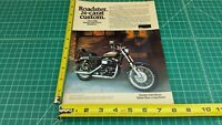 1980 Harley-Davidson AMF Roadster 61CID 1000cc 1-Page Ad / Color Photo