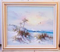 Vintage Oil Painting, Listed Artist J. Judy Thompson, Landscape Seascape Art
