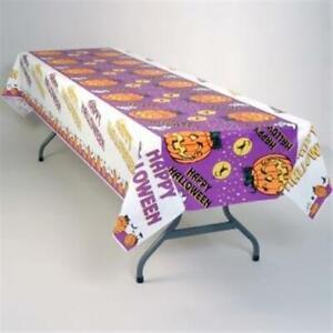 "Happy Halloween Plastic Banquet Tablecloth 54"" X 108"" Halloween Tableware"