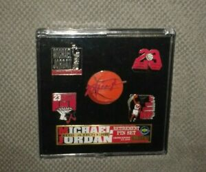 NBA Michael Jordan Chicago Bulls His Airness 5 Pins Set Limited Edition New