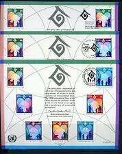 1994 Three Un First Day Souvenir Card Ny-G-V = Family