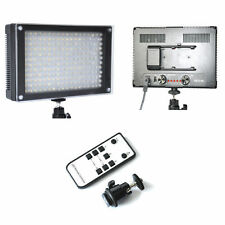 216C Bi-color LED Video Light + AC Adapter Power + Remote For Nikon Canon H