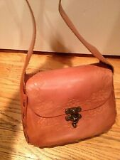 NWOT T-bags brown leather handbag whip stitch tan