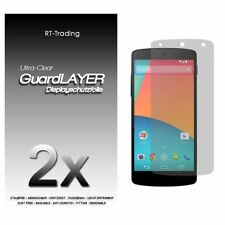 2x LG NEXUS 5 GOOGLE DISPLAY SCHUTZFOLIE KLAR FOLIE SCREEN PROTECTOR SCHUTZ