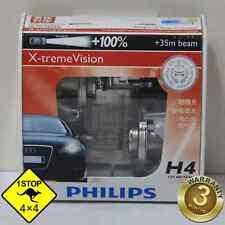 A Pair of Genuine Philips H4 12V 60W/55W Hi/Lo Beam X-treme Vision Bulbs