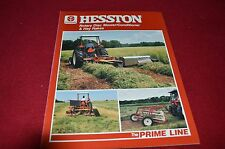Hesston Hay Rakes & Rotary Disc Mower Conditioners Dealers Brochure LCOH