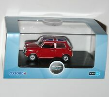 Oxford Diecast-Austin Mini (Rojo + UNION JACK TECHO) - Escala Modelo 1:43