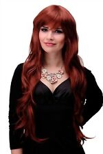 Wig Ladies Women Long Wavy Layered Fringe Red Copper Red Copper 80cm 6311-350
