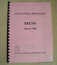 Ersatzteilliste Sachs Diesel 500 - Holder ED2 B10