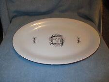Vintage Arlen Seyei Fine China Oval Platter w/ Leaf Dance Pattern 550 MidCentury